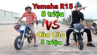 Lâm Vlog - Mua Xe Moto Yamaha R15 Mini 50cc Chạy Xăng Giá 8 triệu | Pocket Bike for Kids $400