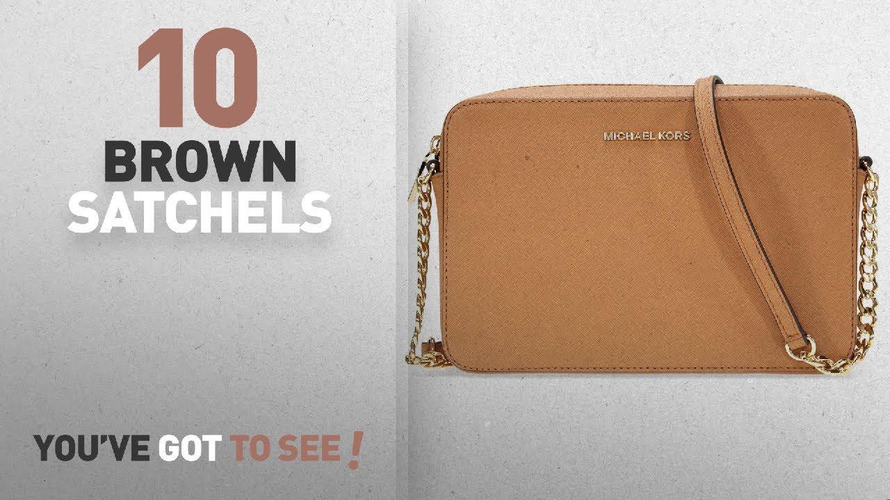 f4ece91b03a322 Top 10 Brown Satchels For Women: Michael Kors Large Jet Set ...
