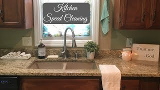KITCHEN SPEED CLEAN | CLEAN WITH ME | CLEANING MOTIVATION