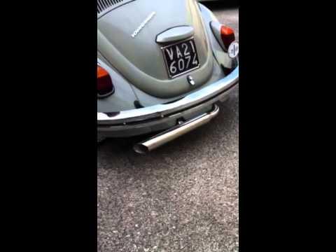 Jet Pipe maggiolino vetro piatto 1968 bug kafer - YouTube