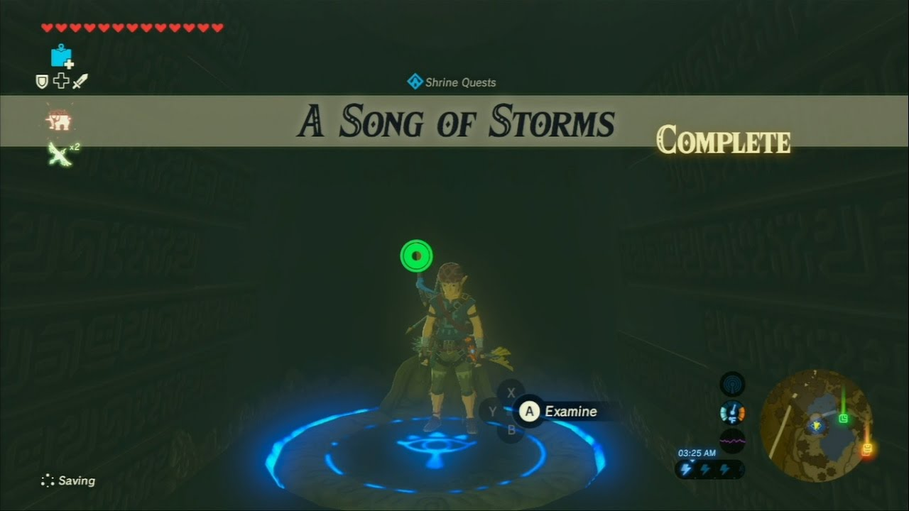 Zelda Breath Of The Wild Shrine Quest A Song Of Storms Youtube