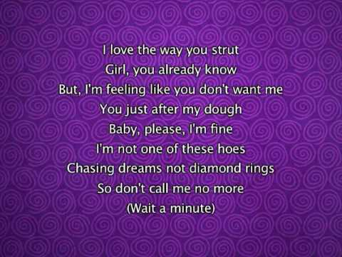 Pussycat Dolls - Wait A Minute, Lyrics In Video