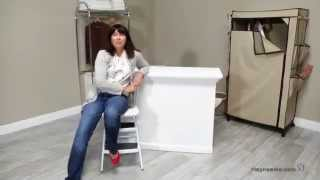 Cosco Chair Step Stool With Lift-up Seat - Product Review Video