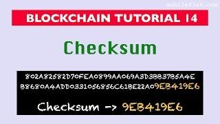 Blockchain tutorial 14: Checksum