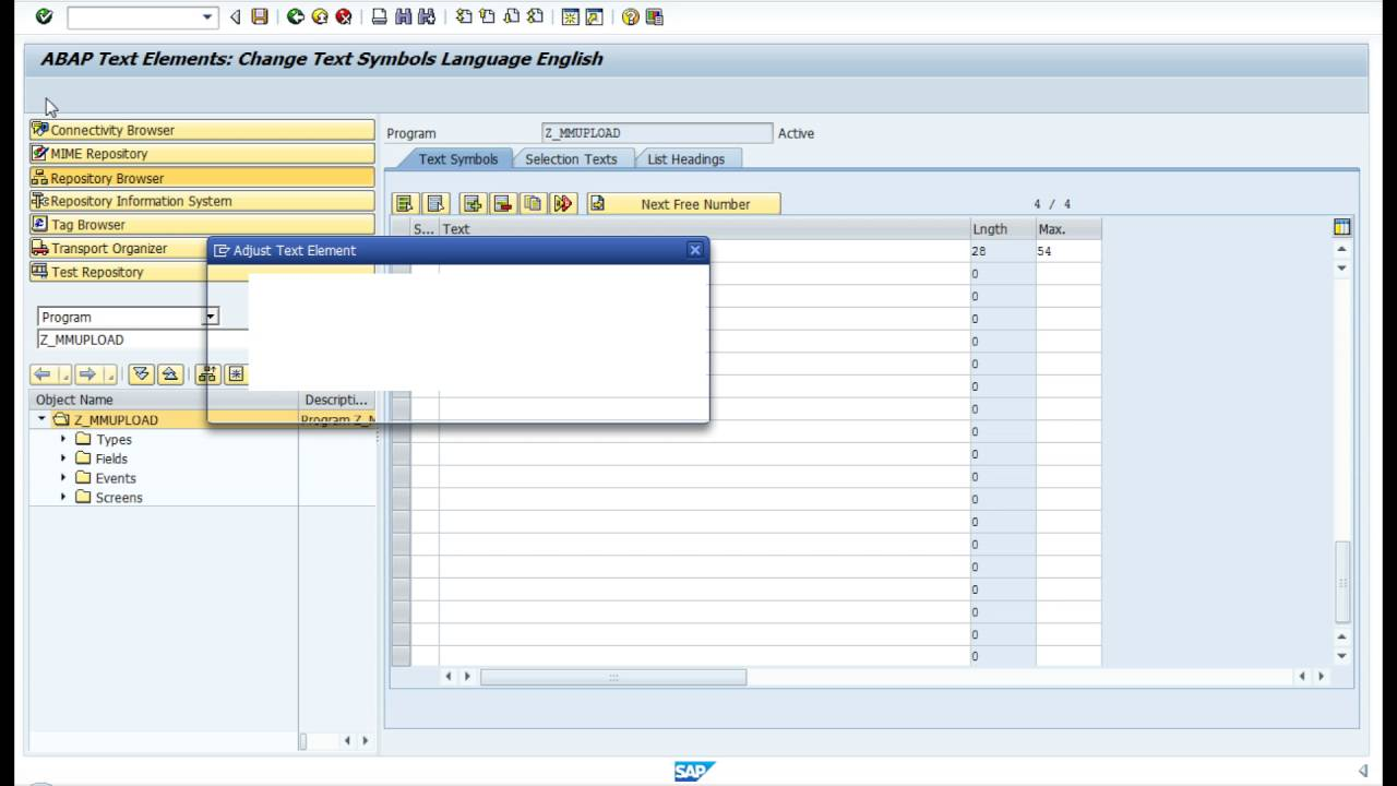 Text Elements And Hard Code Text In Abap Video 11 Youtube