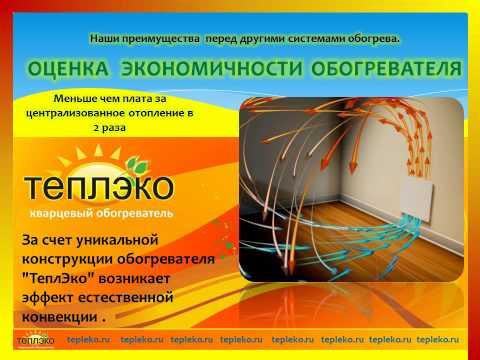 Презентация энергосберегающего кварцевого монолитного обогревателя ТеплЭко
