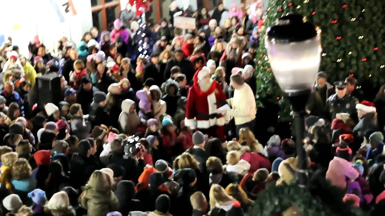 Somerville, NJ Christmas Tree Lighting 2012 With Santa