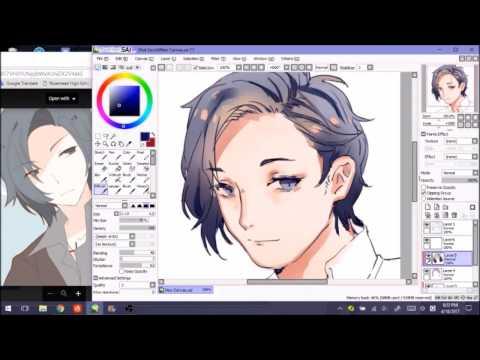 【SAI】Nine Character Commission Speedpaint