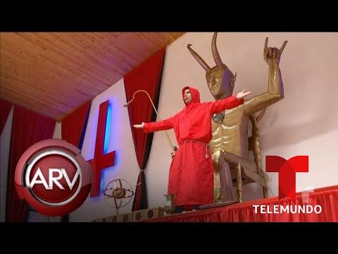 Genera Polémica Y Terror Un Templo Dedicado A Lucifer En Colombia   Al Rojo Vivo   Telemundo