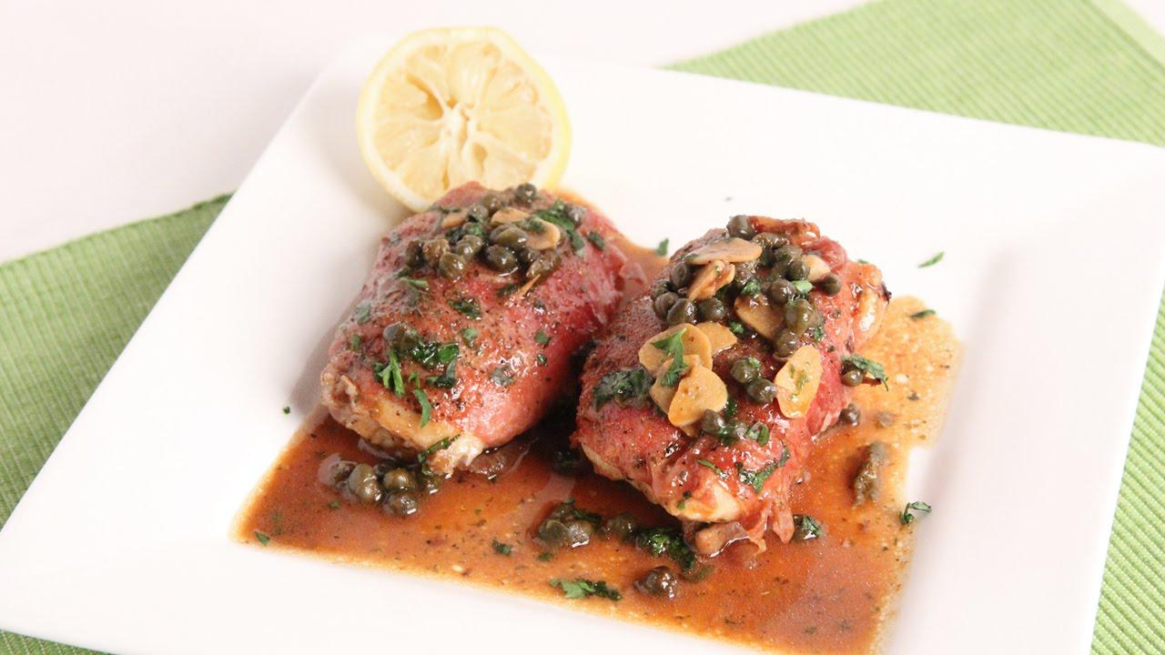 Prosciutto Wrapped Chicken Piccata Recipe - Laura Vitale - Laura in the Kitchen Episode 994