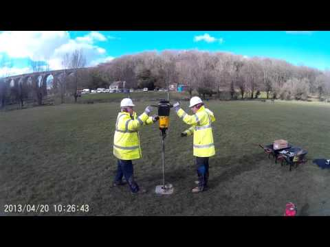 Cardiff University MSc Applied Environmental Geology Atlas Copco Vibrocoring Drilling 3