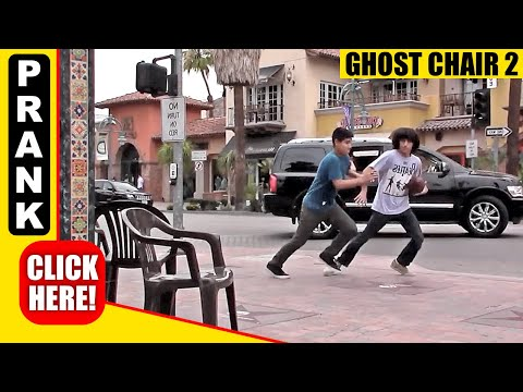 GHOST CHAIR PRANK PART 2!! SCARY CHAIR PRANK!!