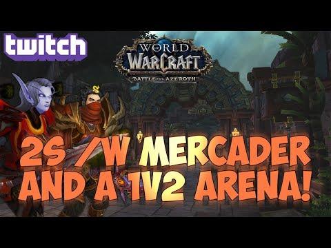 Sensus  WoW BFA Rogue PvP  2s w Mercader + a 1v2 Arena! World of Warcraft BFA 2v2 Arena PvP