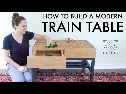 Modern Toy Train Table // DIY Furniture for Kids // Router // CNC