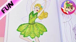 BARBIE Dzwoneczek | kolorowanka Barbie | Barbie przebrana za wróżkę | How to draw a fairy