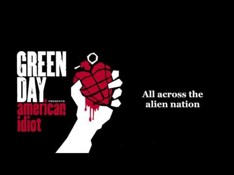 Green Day - American Idiot lyrics (HQ)