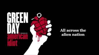 Green Day - American Idiot lyrics (HQ)