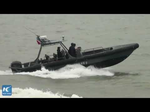 Guangdong, HK police conduct joint maritime drill