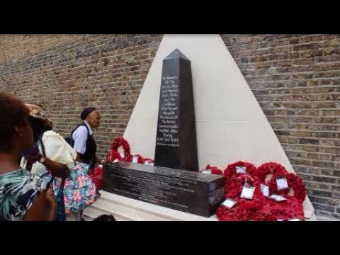 UK: FIRST WAR MEMORIAL TO AFRO-CARIBBEAN SOLDIERS UNVEILED