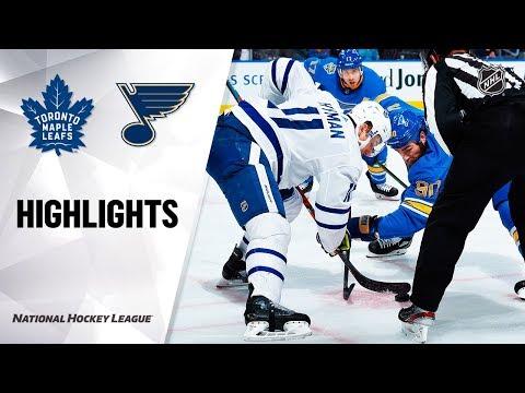 NHL Highlights   Maple Leafs @ Blues 12/07/19