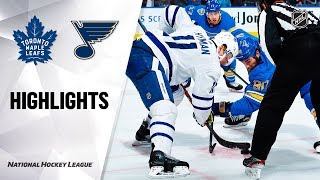 NHL Highlights | Maple Leafs @ Blues 12/07/19