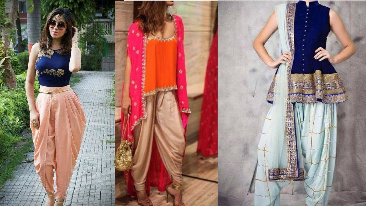 Indo Western Dhoti Style Dresses Latest Fashion 2017 Youtube