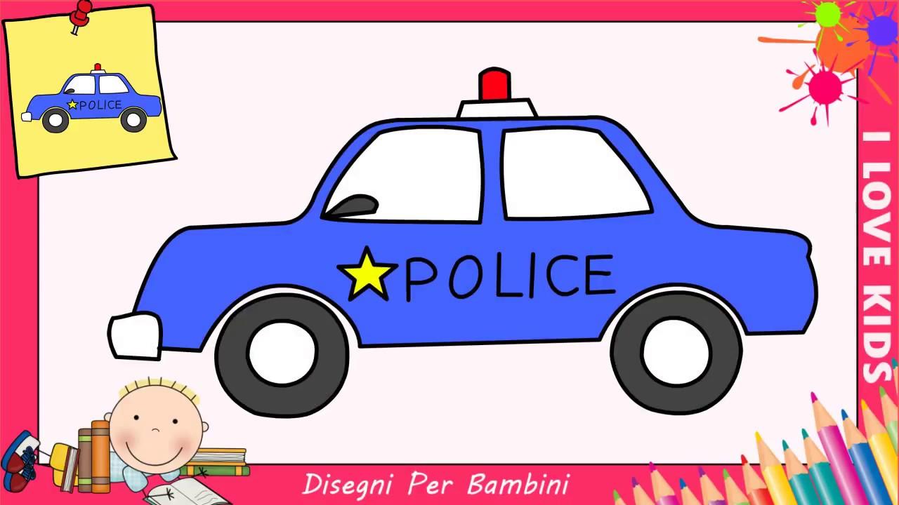 Come Disegnare Una Macchina Di Polizia Facile Passo Per Passo Per