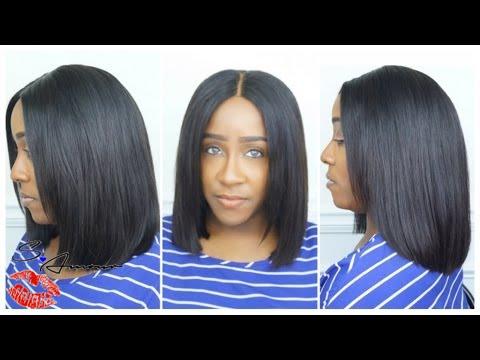 Blunt Cut Bob Install Cut Style No Hair Out Glam Star Hair