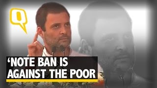 The Quint|  PM Modi's Note Ban Policy is Against the Poor: Rahul Gandhi