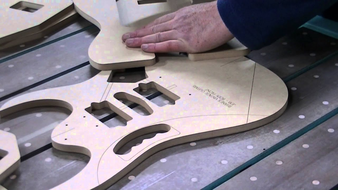 Tremelo bridge routing templates youtube for Floyd rose routing template