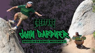 John Gardner Drops in on Bowel Movement!   Making of the latest Creature Ad