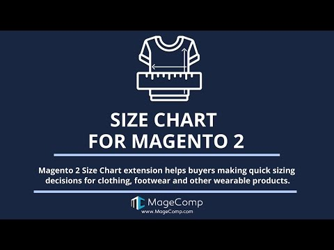 Magento 2 Size Chart by MageComp