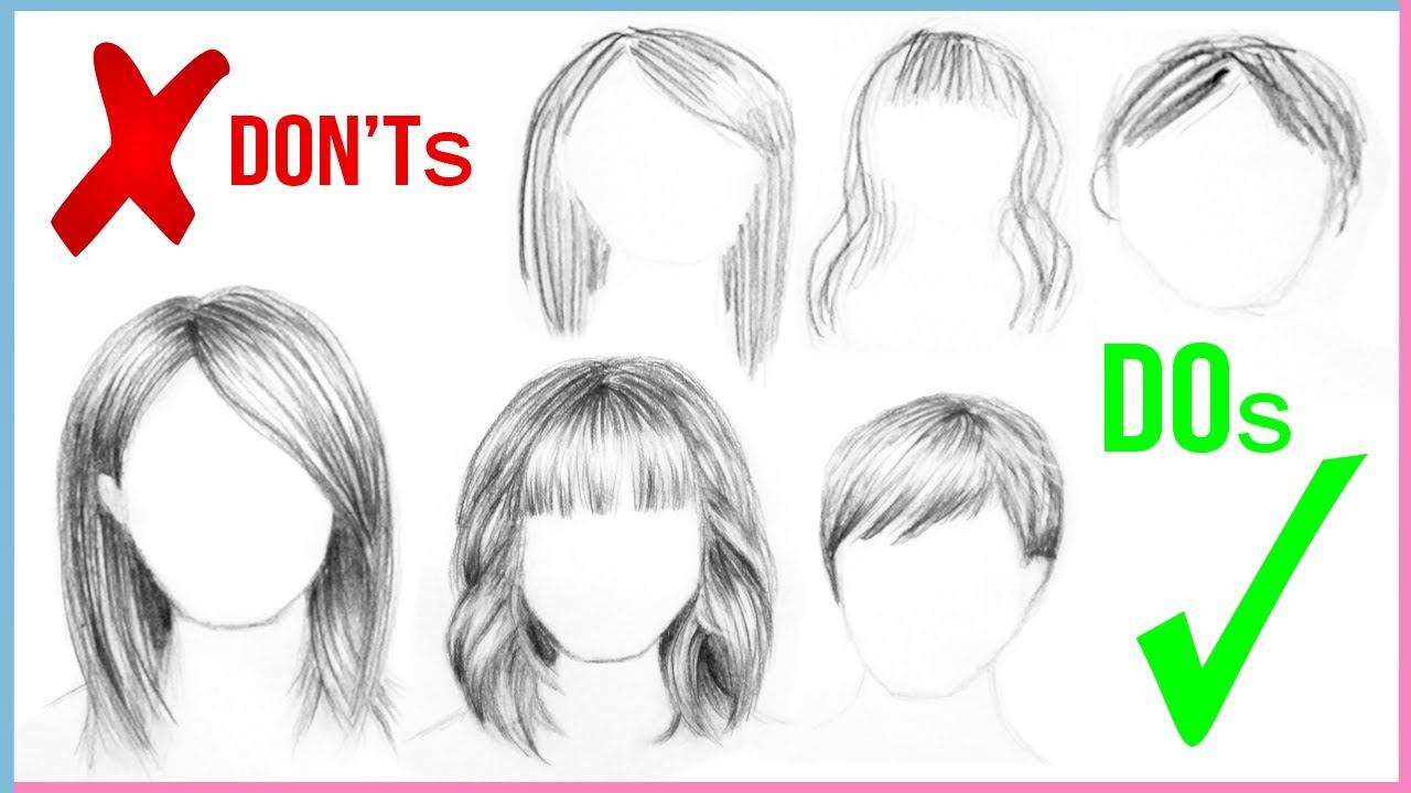 Hair Sketches Step By Step