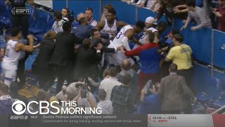 Brawl erupts at Kansas-Kansas State basketball game