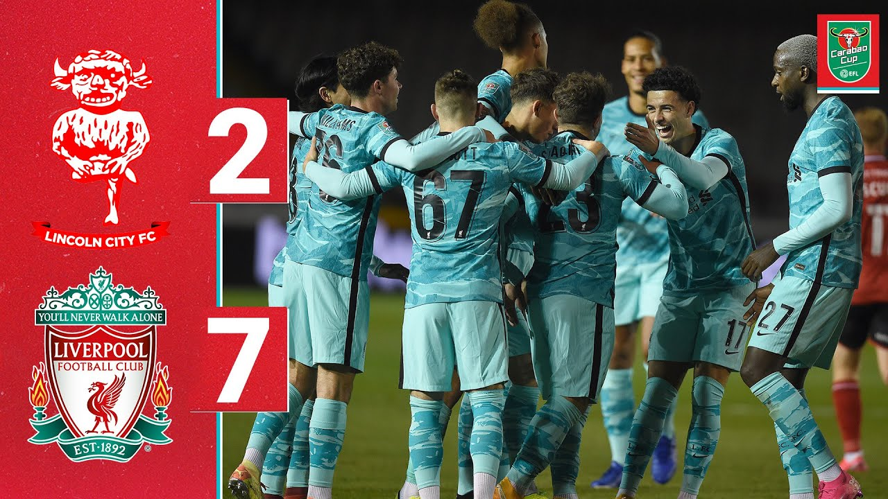 Highlights: Lincoln 2-7 Liverpool | Shaqiri free kick, Minamino & Jones hit doubles