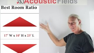 Ideal Room Size Ratios & How To Apply The Bonello Graph - www.AcousticFields.com