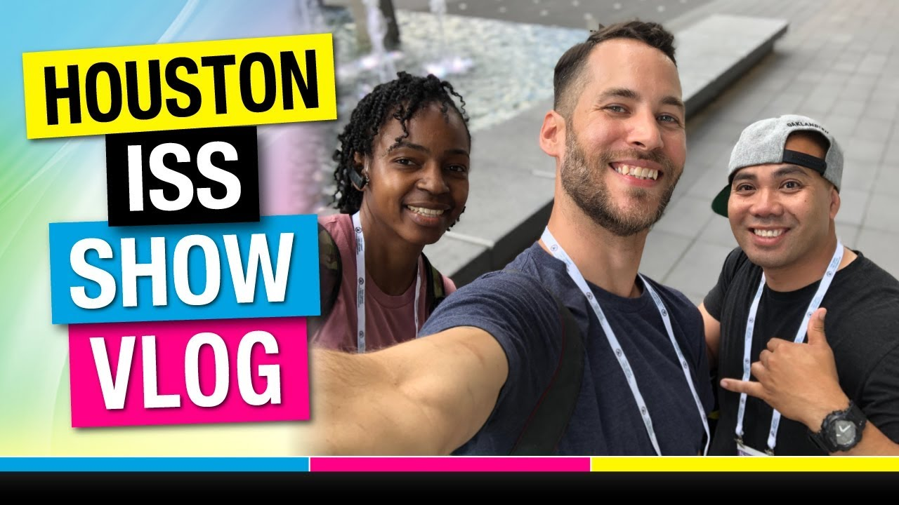 Screen Printing Vlog YouTube Collaboration at the ISS Houston 2019