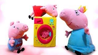 Фото Свинка Пеппа мультики для малышей. Свинки — ПОРОСЯТА. Давайте купим стиральную машину Маме Свинке