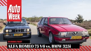 Alfa Romeo 75 V6 vs BMW 325i - Classics dubbeltest - English subtitles