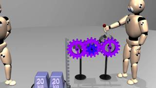 Cars: engine power and transmission - 3D animation