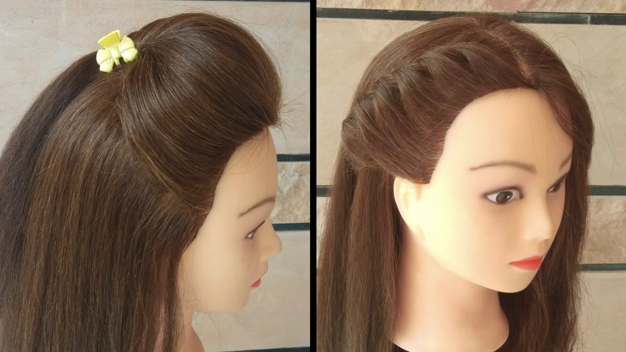 #4CUTE AND EASY 1 MIN. HAIRSTYLES FOR COLLAGE AND OFFICE GOING GIRLS\\EASY HAIRSTYLES FOR OPEN ...