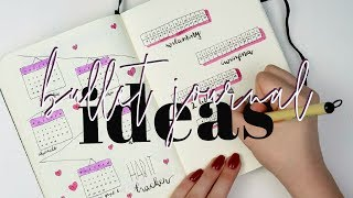 BULLET JOURNAL IDEAS | pomysły na strony