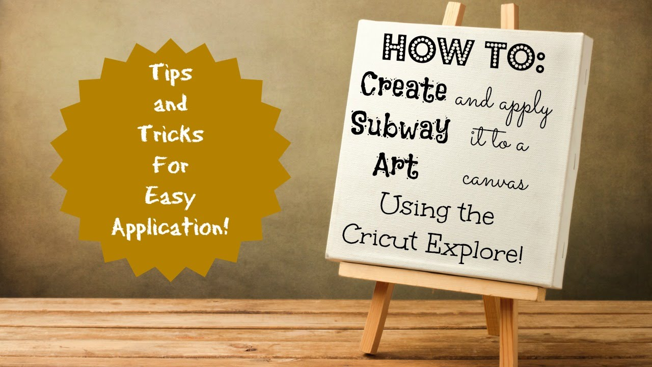 How to apply vinyl to a canvas and create subway art - YouTube