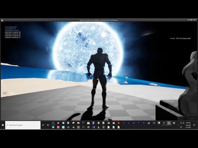 Test Planet to Atlantica Sun Trip in Unreal Engine 4.26