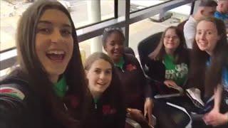 Flog Cheerleaders Team Cymru yn Florida   Stwnsh Sadwrn