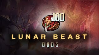 WHAT HAPPENS WHEN YOU OPEN 100 LUNAR BEAST ORBS?! | League Of Legends