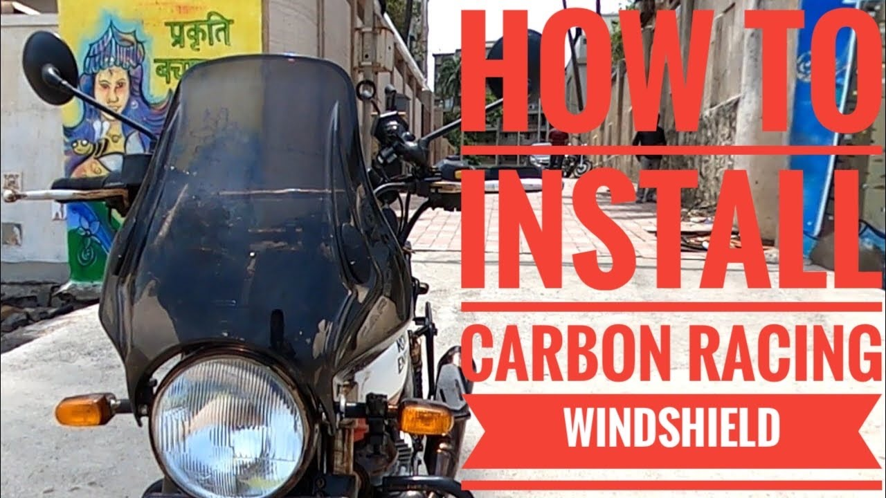 Carbon Racing Windshield | Detailed Installation | Light Smoked with Stainless Steel fittings