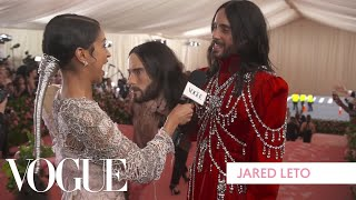 Jared Leto's Two-Headed Met Gala Look | Met Gala 2019 With Liza Koshy | Vogue
