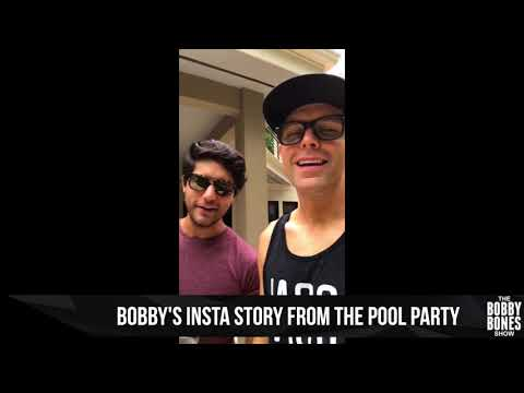 Watch Bobby's Insta Story From His Pool Party
