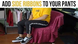 How to add side ribbons to your pants + new t-shirt design/pick ups!